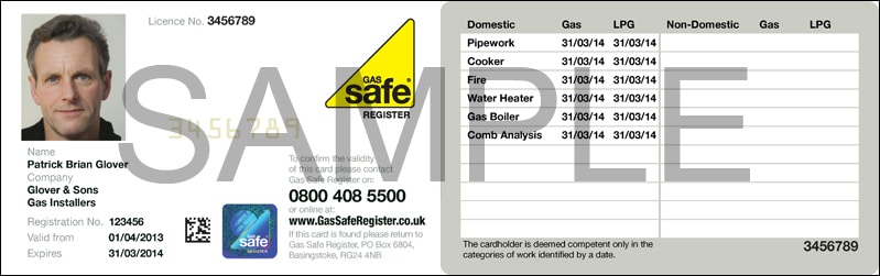Gas safe ID Birmingham