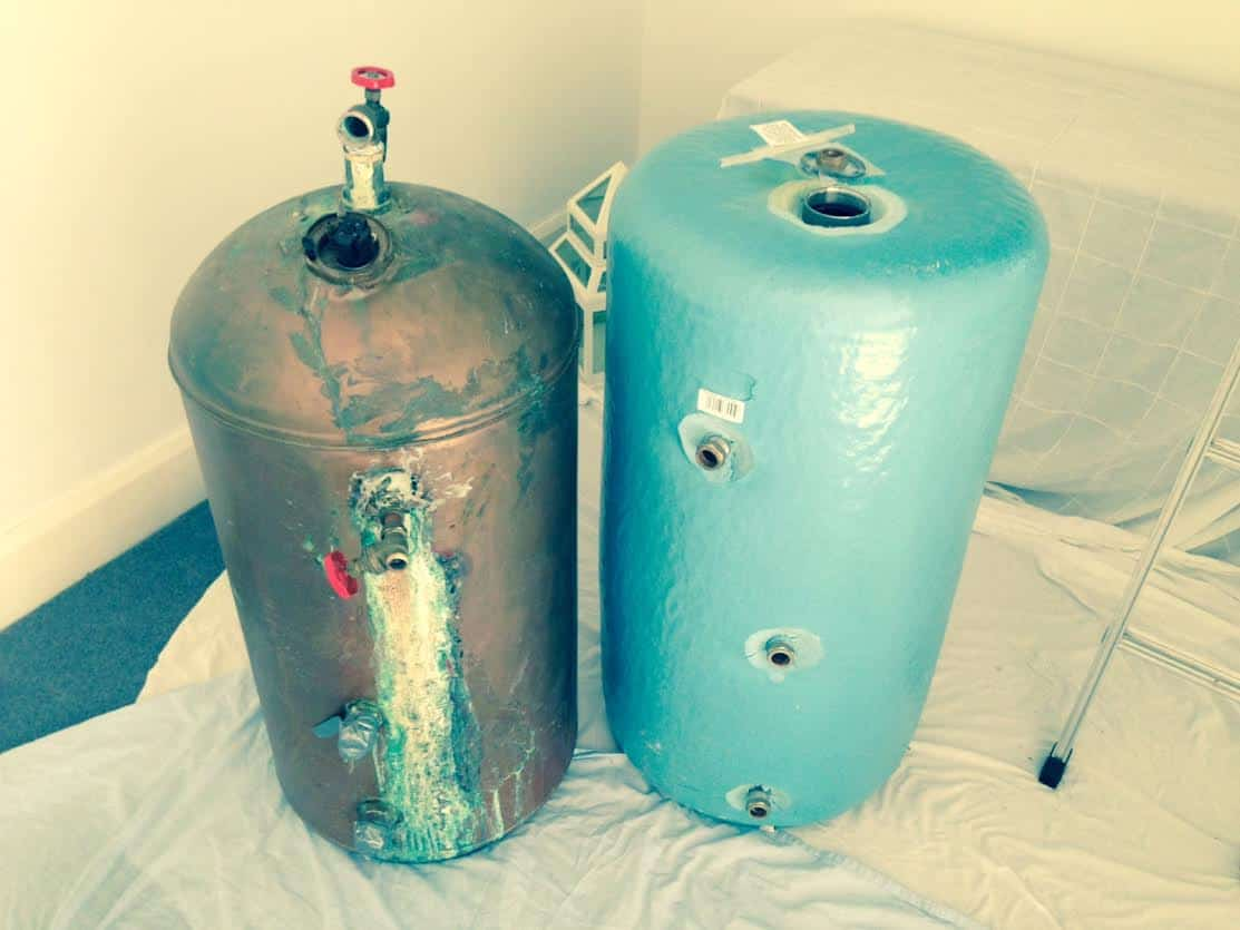 Hot water cylinder replacement in Redditch